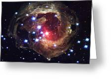 Radiation From A Stellar Burst Greeting Card by ESA and nASA