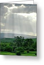 Rain Sun Rays Greeting Card by Roderick Bley