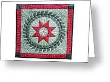 Red Star Greeting Card by Deborah King