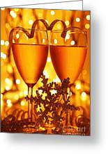 Romantic Holiday Celebration Greeting Card by Anna Om