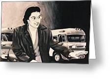 Rosa Parks Greeting Card by Howard Stroman