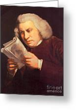 Samuel Johnson, English Author Greeting Card by Photo Researchers