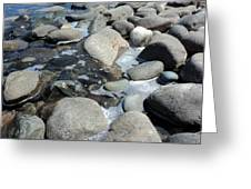 Sauble Pebbles Greeting Card by Merv Scoble