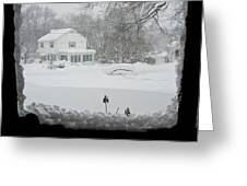 Snow Covers The Streets Greeting Card by Stacy Gold