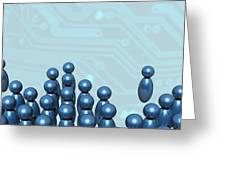 Social Networking, Conceptual Image Greeting Card by Victor Habbick Visions