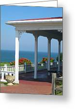 Spring House Porch  Greeting Card by Rose Pasquarelli