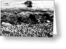 Stones at the sea Greeting Card by Falko Follert
