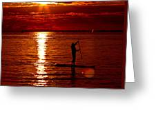 Sunset Silhouette Greeting Card by Barbara  White