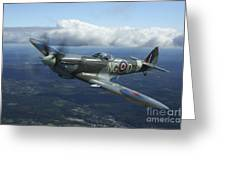 Supermarine Spitfire Mk.xvi Fighter Greeting Card by Daniel Karlsson