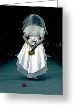 The Bride Greeting Card by Joana Kruse