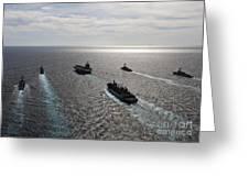 The Enterprise Carrier Strike Group Greeting Card by Stocktrek Images