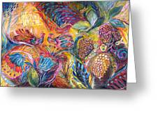 The Flowers And Fruits Greeting Card by Elena Kotliarker