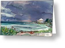 Thunderstorm Over Key West Greeting Card by Donald Maier