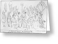 `treaty Of Paris, 1783 Greeting Card by Granger