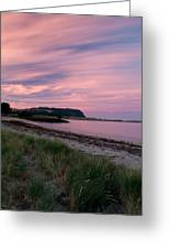 Twilight After A Sunset At A Beach Greeting Card by Ulrich Schade