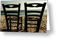 Two Chairs Greeting Card by Joana Kruse