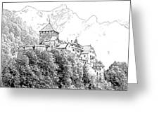 Vaduz Castle Vaduz Lichtenstein Greeting Card by Joseph Hendrix
