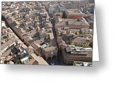 View Of Bologna From The Torre Degli Greeting Card by Gina Martin