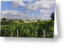 Village And Vineyard Of Saint-emilion. Gironde. France Greeting Card by Bernard Jaubert