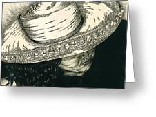 White Hat Greeting Card by Jac  Jac