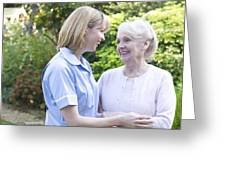 Nurse On A Home Visit Greeting Card by