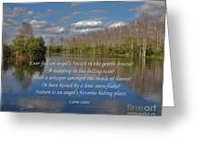 22- An Angel's Breath Greeting Card by Joseph Keane