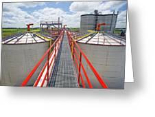 Corn Ethanol Processing Plant Greeting Card by David Nunuk