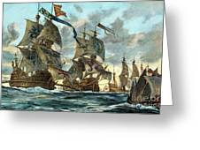 Spanish Armada (1588) Greeting Card by Granger