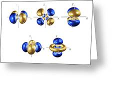 4d Electron Orbitals Greeting Card by Dr Mark J. Winter