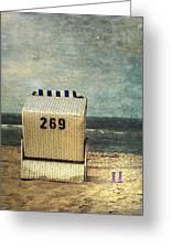 Beach Chair Greeting Card by Joana Kruse