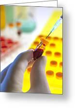 Blood Sample Testing Greeting Card by Tek Image