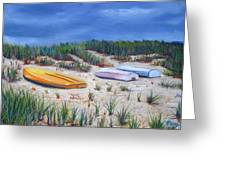 3 Boats Greeting Card by Paul Walsh