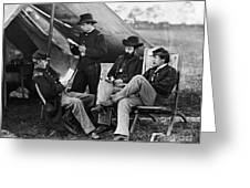 Civil War: Union Officers Greeting Card by Granger