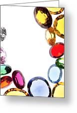 Colorful Gems Greeting Card by Setsiri Silapasuwanchai