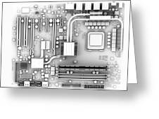 Computer Motherboard, Artwork Greeting Card by Pasieka