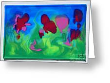 3-d Poured Edges Greeting Card by Ruth Collis
