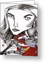 Distorted Beauty Greeting Card by Kristine Veta