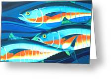 3 Fish School Greeting Card by Mark Jennings
