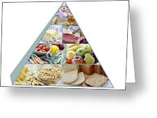Food Pyramid Greeting Card by David Munns