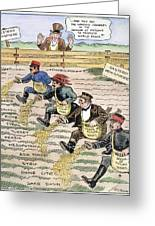 League Of Nations Cartoon Greeting Card by Granger