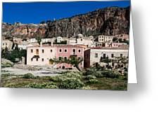 Monemvasia Greeting Card by Constantinos Iliopoulos