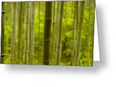 Mystical Bamboo Greeting Card by Sebastian Musial
