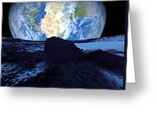 Near-earth Asteroid, Artwork Greeting Card by Detlev Van Ravenswaay