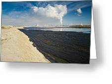 Oil Industry Pollution Greeting Card by David Nunuk