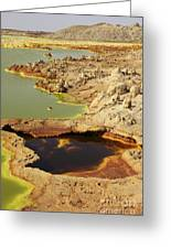 Potassium Salt Deposits, Dallol Greeting Card by Richard Roscoe