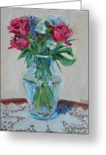 3 Roses Greeting Card by Paul Walsh