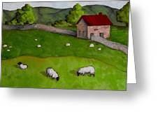 3 Sheep On The Farm Greeting Card by Amy Higgins