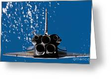 Space Shuttle Atlantis Greeting Card by Stocktrek Images