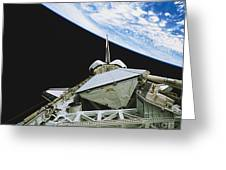 Space Shuttle Endeavour Greeting Card by Science Source