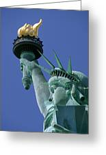 Statue Of Liberty Greeting Card by Ron Watts